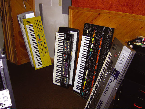 A few spare keyboards.