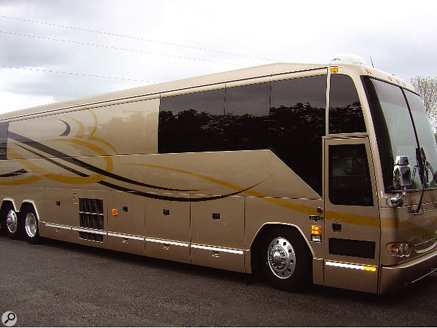 The Neptunes' custom-built bus-cum-recording studio.