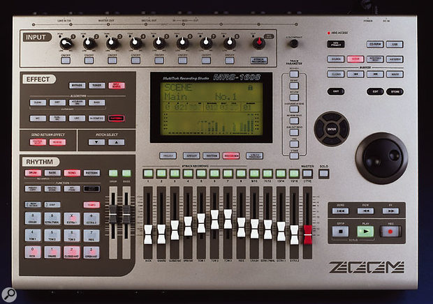 The Korg D1600 MkII (above) and the Zoom MRS1608 both offer 16-track recording, but their other features are designed to appeal to very different kinds of musician.