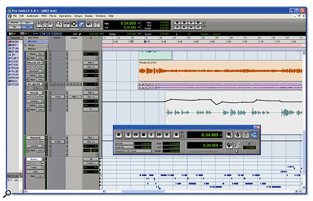 Pro Tools LE is now a mature and well-specified DAW, although the lack of any facility to disable input monitoring can be annoying when working with the M Box 2.