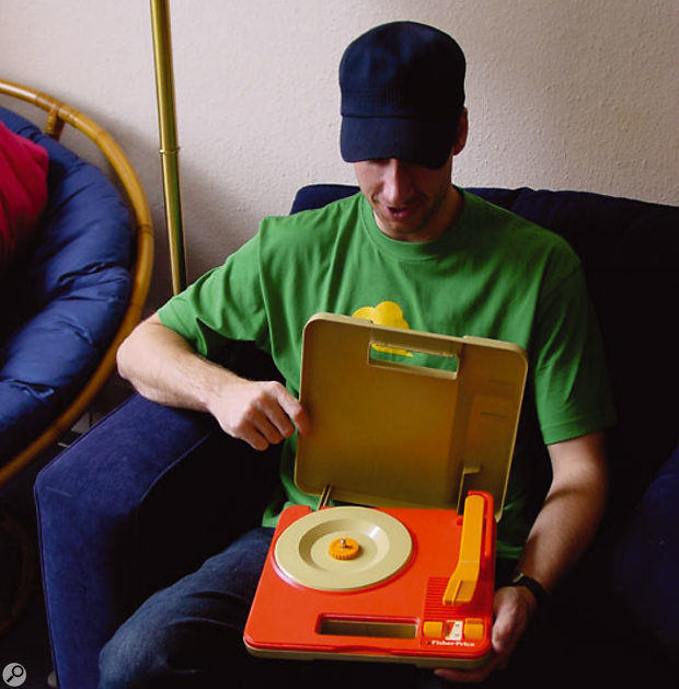 In Matt Ford's surprisingly large collection of portable record players, it's this modified Fisher-Price model that gets the most use.