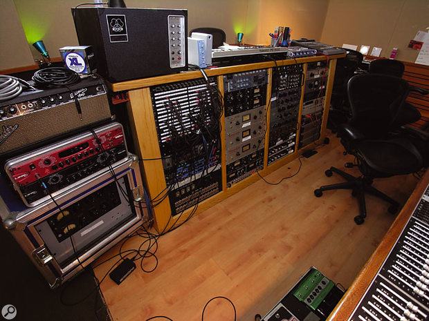 The Boat's impressive list of outboard equipment includes a mouth-watering array of vintage mics, preamps and compressors.