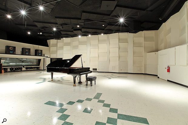 The large EastWest Studio 1 live area is still exactly as Bill Putnam designed it in the early '60s.