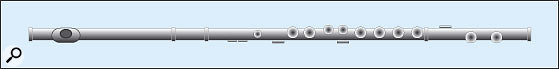 Figure 3: The modern orchestral flute, shown without the levers.