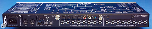 The Fireface serves as a Firewire hub, and up to three can be connected simultaneously to a Firewire 800 chain. Alternatively, various input and output streams can be disabled in order to conserve bandwidth on a Firewire 400 connection.