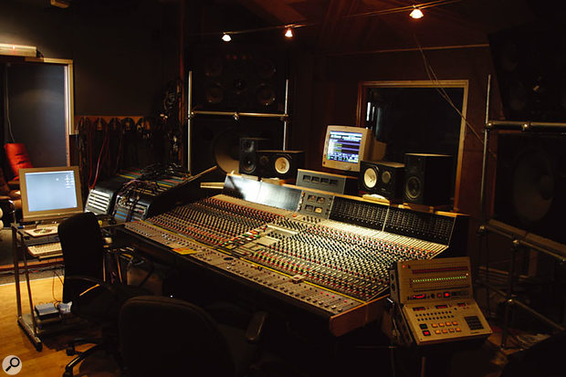 The control room at Fortress Studios is based around a Neve desk with Flying Faders automation.