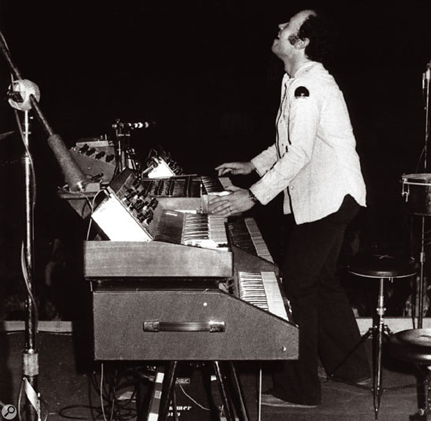 Jan Hammer on stage in the 1970s.