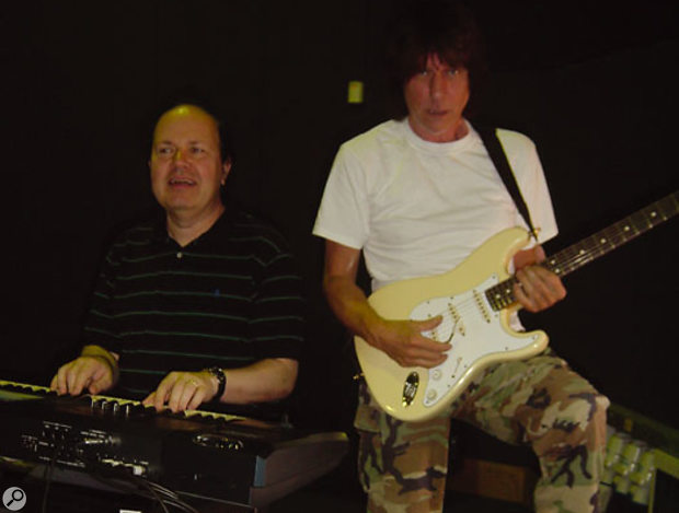 Jan today, in the rehearsal studio with Jeff Beck.