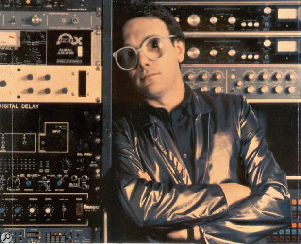 As this photo from the early '80s shows, Trevor Horn was one of the first producers to have his own rack of gear that he could bring to sessions.