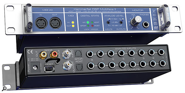 For many years, interfaces which connected to the computer via a host PCIe card, such as this RME model, were the only option for high-bandwidth, low-latency audio. While USB has improved in that respect, and Thunderbolt seems finally to be catching up with PCIe, there's no good reason to abandon a PCIe-based audio interface as a matter of principle — they're still capable of great performance.