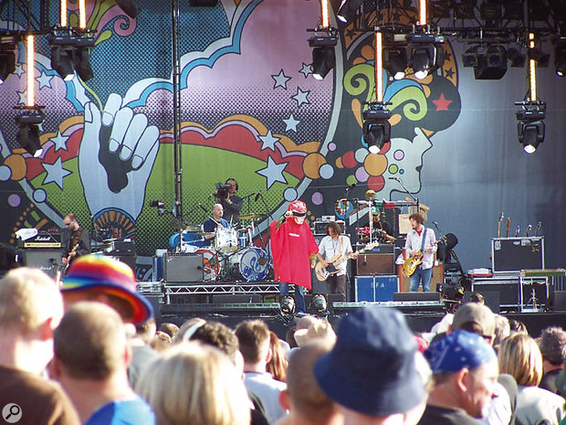 Super Furry Animals take to the stage...