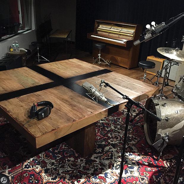 Not a misprint: Ahmir '?uestlove' Thompson really did perform a percussion overdub on a table!