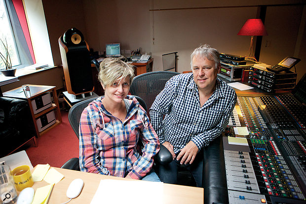 Kirsty Whalley and Peter Cobbin in the Penthouse Studio at Abbey Road, where 'And IWill Kiss' was mostly mixed.