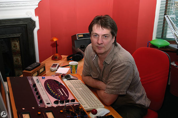 Andy Jackson in his mastering suite.