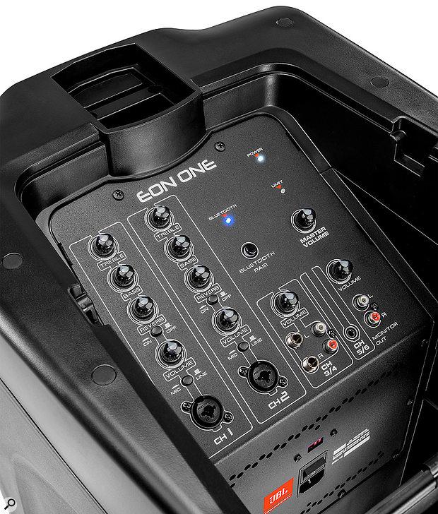 JBL Eon One control panel.
