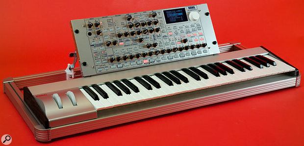 The Radias module sitting centred in its optional RD-KB keyboard frame. If you wish, you can slide the Radias around from left to right to your taste, and if you situate it at either the left or right extremes of the keyboard frame, a blanking panel is supplied to fill the gap at the opposite side of the frame, as you can see from the picture below.