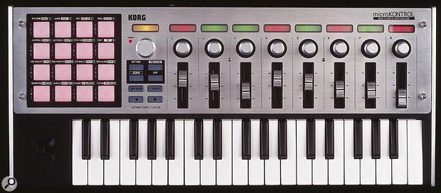 Korg Microkontrol front panel controls.