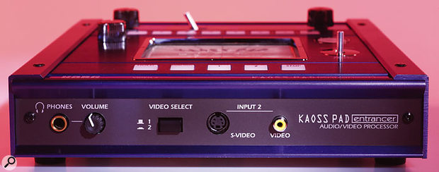 The Headphone socket, associated Volume control, second main (video-only) input and all-important Input 1/2 toggle selector switch are all found on the front edge of the KPE1.