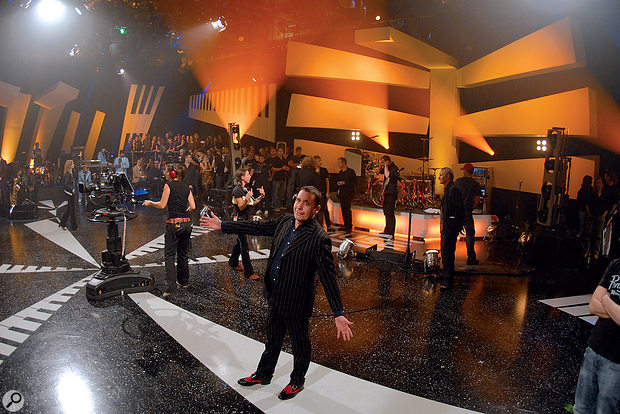 The first 41 series of Later were filmed in Studio 1 at London's Television Centre, where this panoramic photo was taken.