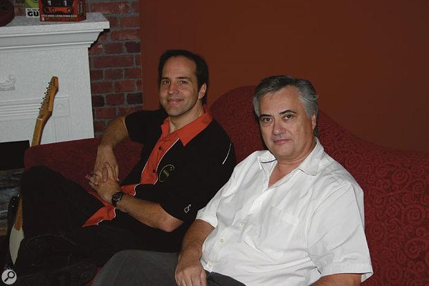 Marcus Ryle (left) and Michel Doidic of Line 6.