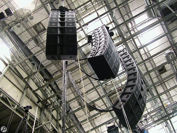 JBL Vertec line array. Photo courtesy of Harman Pro.