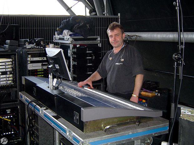 Glastonbury is one of several summer festivals that Chris works.