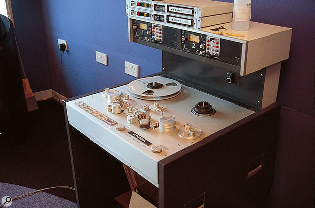 Although Ray's setup can cater for a variety of digital sources and output formats, there are also facilities for playing open-reel analogue master tapes and for cutting vinyl discs (above).