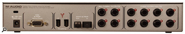 Like many Firewire interfaces, the 1814 can be powered over the Firewire buss if your computer provides the six-pin version of the interface, or using an optional adaptor.