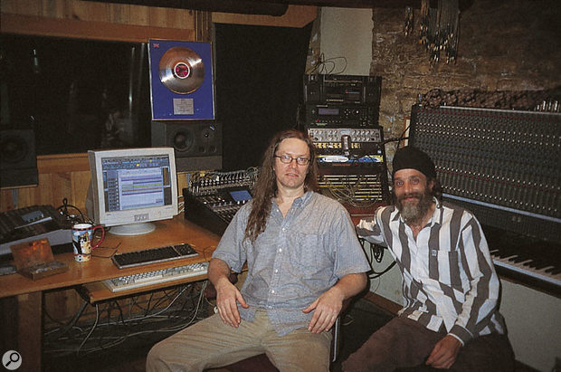 Ron Parker (left) and Dana Bailey in the control room at Mirror Image Studios.