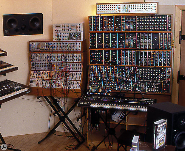 The extended System 55 modular at UK collector Martin Newcombe's former Museum Studios, photographed in 2000.
