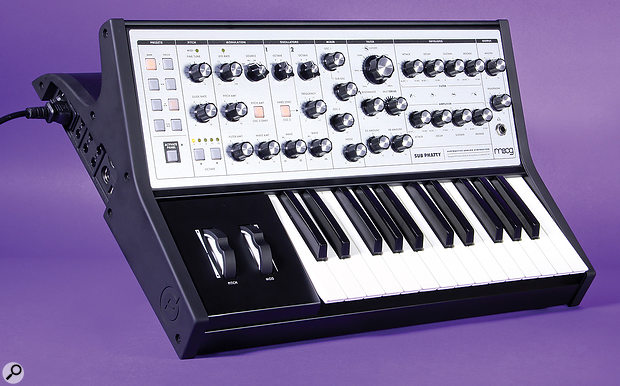 Moog Sub Phatty synthesizer.