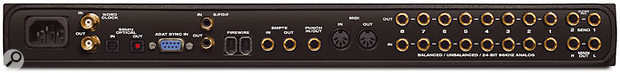 New to the 828 MkII are MIDI I/O, word clock support and SMPTE sync.