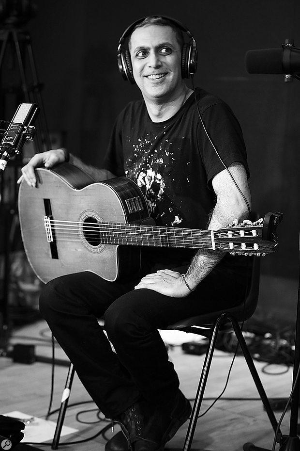 Nitin Sawhney's main instrument for the One Zero recording was his nylon-strung guitar.