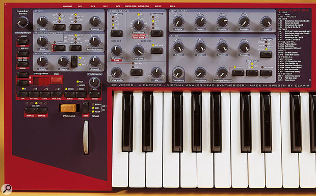Clavia Nord Lead 2X front panel.