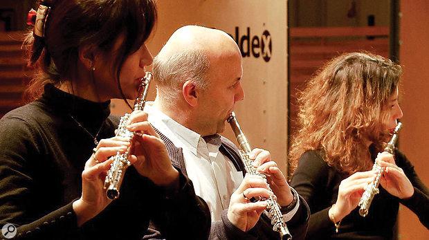 Berlin Woodwinds' flute ensemble: (L-R) Yasuko Fuchs, Klaus Schöpp, Silvia Careddu.