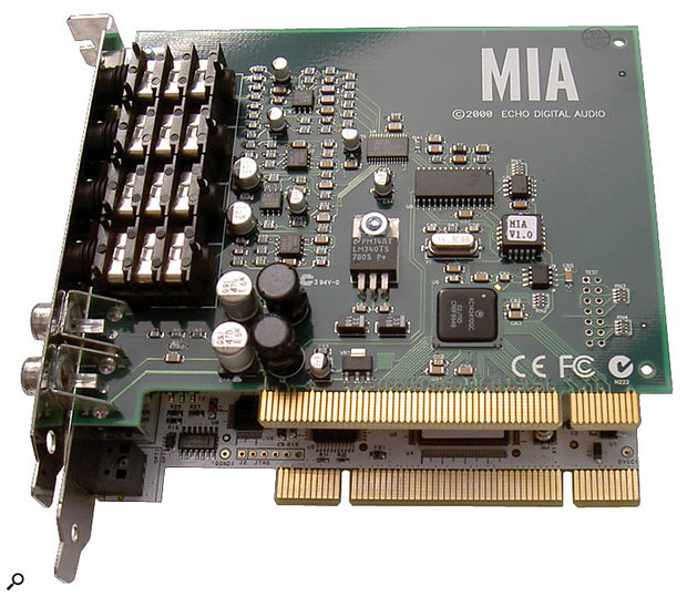 Most PCI expansion cards, such as Echo's Mia, are of the 5V variety (connector notch at the back), while those designed for 3.3V have a similar notch towards the front. Universal cards (such as ESI's Julia, shown beneath the Mia) provide both notches and can run from either voltage.