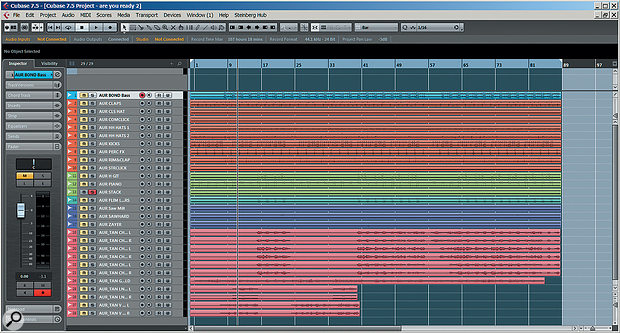 The audio example provided with this article (see box) is a quick mix of this track, which included 28 tracks. The level mix, which left plenty of headroom for further processing and automation, was performed in four minutes.