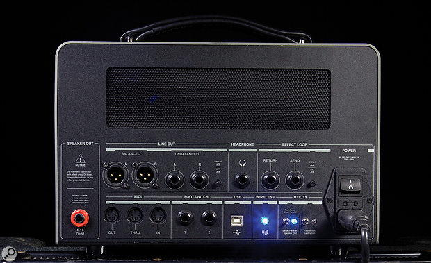 Despite the guitarist-friendly styling, a bright blue light by the Bluetooth logo rather gives the game away that this is no normal amp!