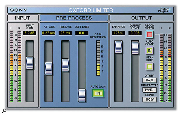 Sony Oxford have announced the launch of Oxford Limiter, a limiter plug-in which uses logarithmic side-chain processing with adaptive timing functionality and lookahead techniques.