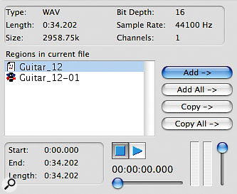 You can force Pro Tools to write region information into an audio file, and can then choose whether to import the whole file or a specific region.