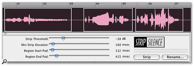 Increasing the Region End Pad value to 415ms, the space between the end of the audio and the region boundary can be adjusted so that the audio decays naturally.