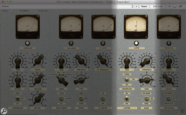 The Clipper section of Vladislav Goncharov's excellent freeware Limiter No6 can be a  really useful tool for certain drum sounds, even if that's not what it was created for. Just be sure to turn off any other sections you don't need — for example, the limiter can 'soften the edge' of drum transients before the sound hits the clipping stage.