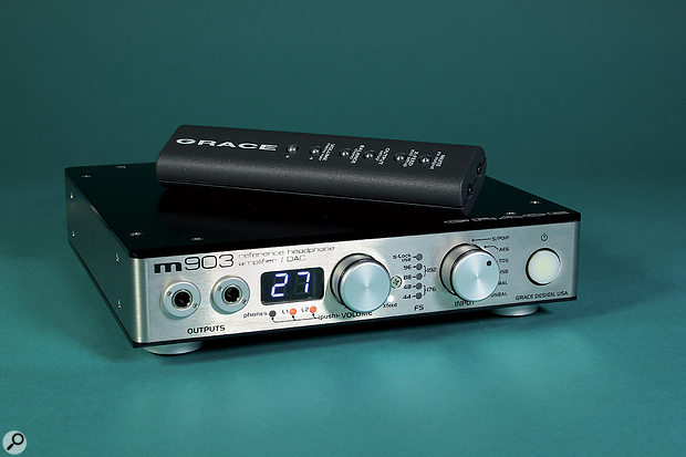 A high-end headphone amp, such as in this Grace product, is demonstrably superior to those in consumer and 'prosumer' devices — and in this case a good many professional ones too — but that doesn't mean the humble headphone output of your CD player is useless!