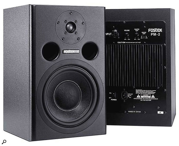 Reflex, or ported, monitors like the Fostex PM2 boost low frequencies at the expense of definition.