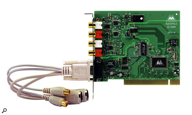 You should be able to achieve reliable performance and an acceptable degree of latency with M-Audio's Delta Audiophile 2496 soundcard. Downloading and installing the most recent drivers is the first step.