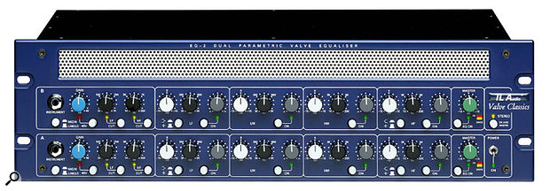 Parametric EQs, like TL Audio's dual-channel EQ2, provide frequency, bandwidth and cut/boost controls for each band.