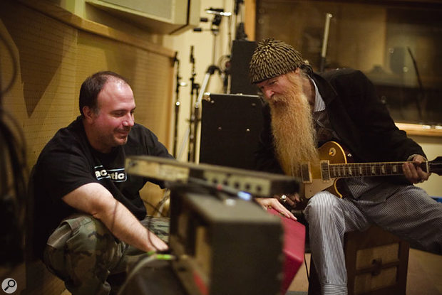 Barresi with Billy Gibbons of ZZ Top.