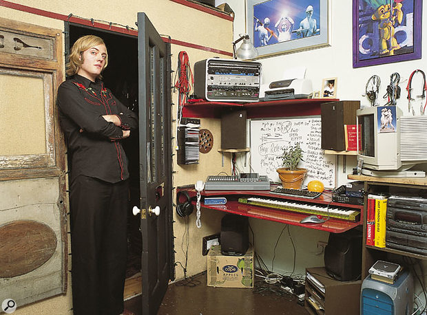 Robbie Moore standing in the doorway to his soundproofed live room.