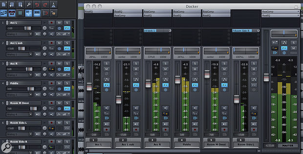 Picture 1: The Rado theme shown with an enlarged master fader.