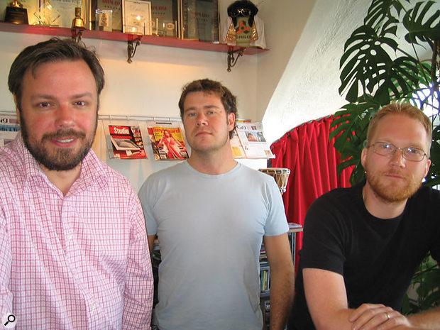 From left to right: Propellerhead's Mats Karlöf, Loui Westin and Erik Agsjö.